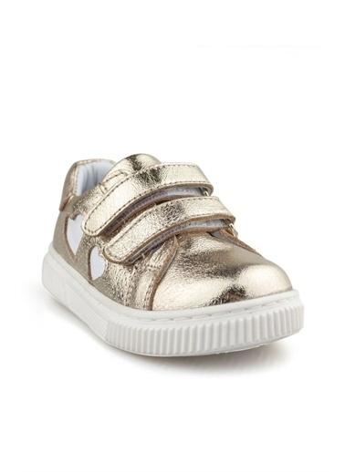 Cicibebe Deri Kız Çocuk Ayakkabısı Bronz